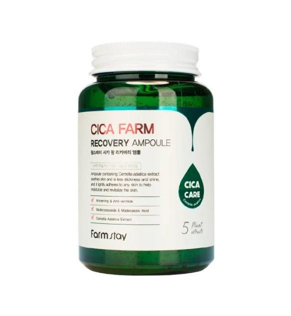 FarmStay Cica Farm Recovery Ampoule  Cыворотка c экстрактом центеллы азиатской, 250 мл