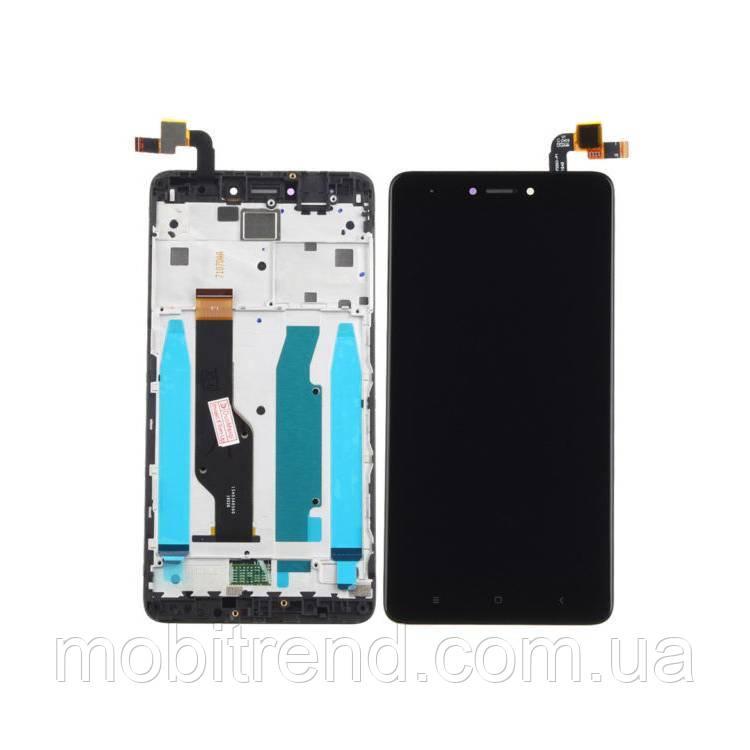 Дисплей модуль Xiaomi Redmi Note 4X Черный (с рамкой)