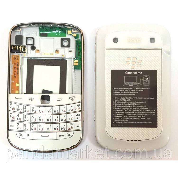 Задняя часть корпуса BlackBerry 9900 Bold Белый Complete Оригинал