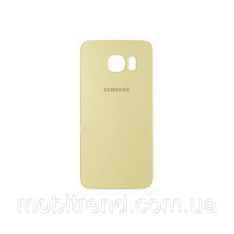 Задняя часть корпуса Samsung G920F S6 Золотой Оригинал