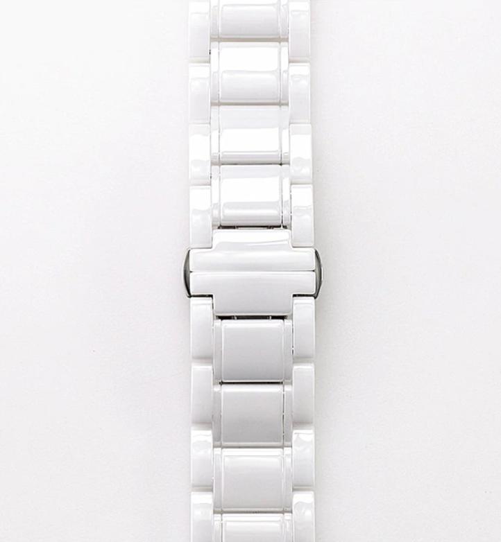 Браслет для часов керамический. Белый. 20 мм
