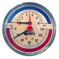 Термоманометр осевой 80мм/120 С Watts