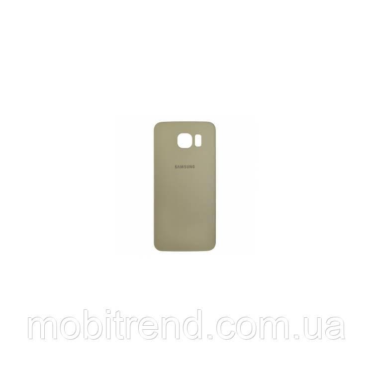 Задняя часть корпуса Samsung S6 G920F (Золотой)