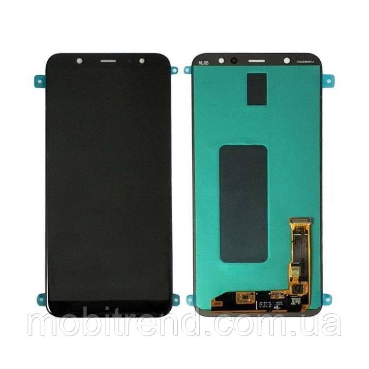 Дисплей модуль Samsung J805F J8 Plus (2018) Черный OLED