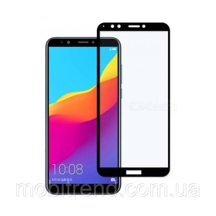 Защитное стекло 3D Huawei Y7 (2018) 3D Черный