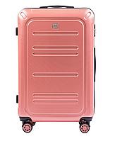 Чемодан поликарбонат Wings PC 175 большой (L, 83 л) на 4 сдвоенных колесах Розовый (Pink)