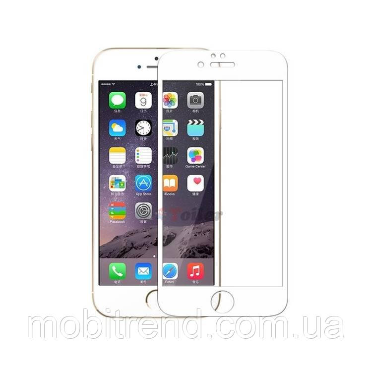 Защитное стекло 3D Apple iPhone 6 Plus, 6S Plus (5.5) Белый рамка 3D (0.26mm)