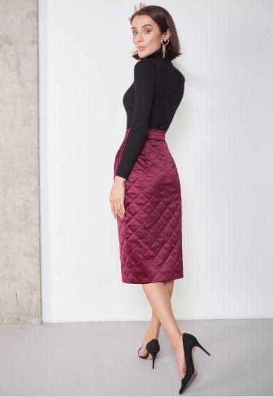 стеганая женская юбка купить