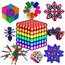 Неокуб разноцветный 5 мм. 216 шт. Neocube mix 5738 FK