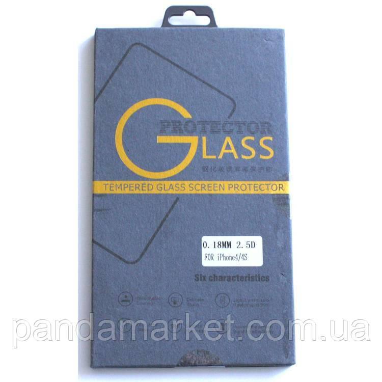 Защитное стекло Apple iPhone 4, 4S Premium Tempered Glass противоударное 0.3mm