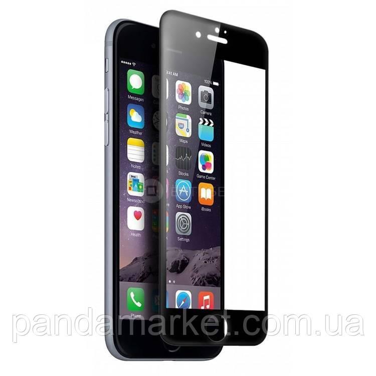 Защитное стекло 4D Apple iPhone 7 Plus, 8 Plus (0.3mm, 3D, 4D), Japan, черное, с олеофобным покрытием)