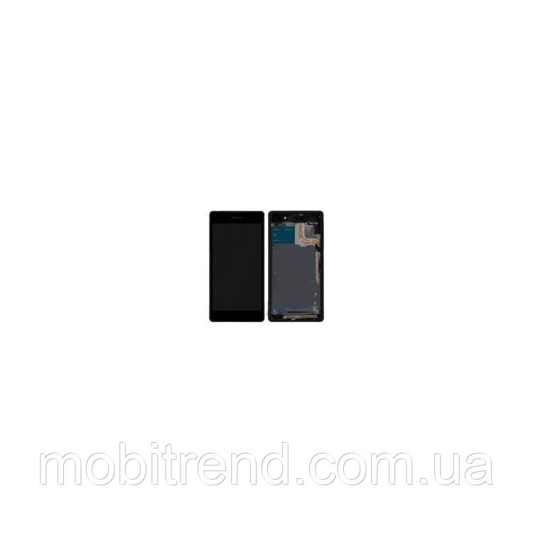 Дисплей модуль Sony Xperia Z2 D6502, D6503 (с рамкой)