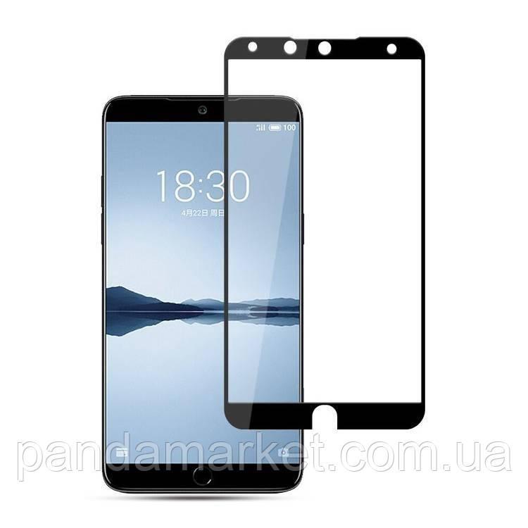 Защитное стекло 2.5D Meizu 15 (0.3mm, 2.5D, с олеофобным покрытием) Черный