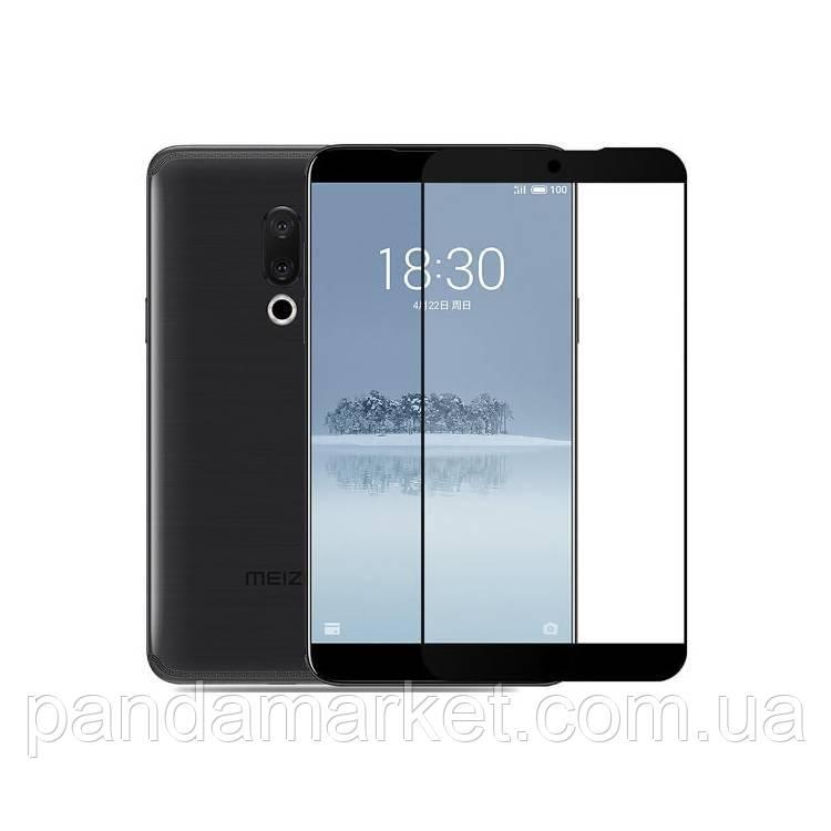 Защитное стекло 2.5D Meizu 15 Plus (0.3mm, 2.5D, с олеофобным покрытием) Черный
