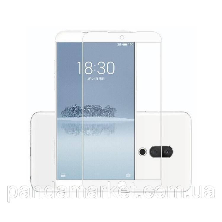 Защитное стекло 2.5D Meizu 15 Plus (0.3mm, 2.5D, с олеофобным покрытием) Белый