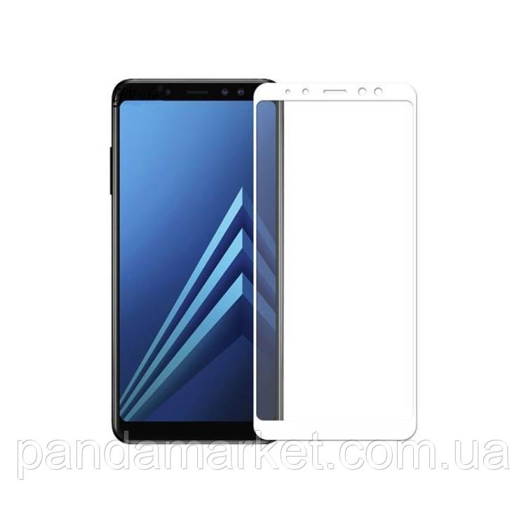 Защитное стекло 2.5D Samsung A530 (2018) A8 (0.3mm, 2.5D, с олеофобным покрытием) Белый