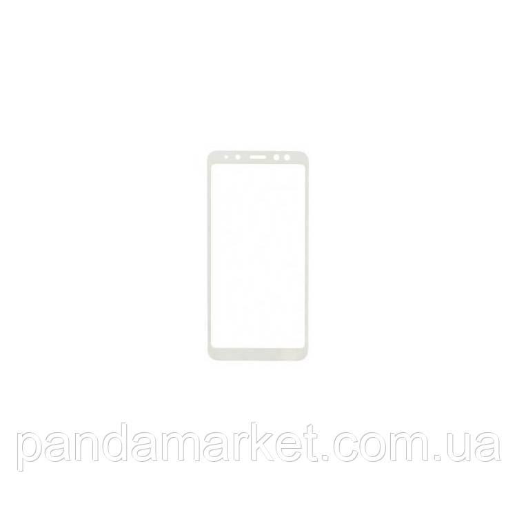 Защитное стекло 2.5D Samsung A530 (2018) A8 Full Glue (0.3mm, 2.5D, с олеофобным покрытием) Белый