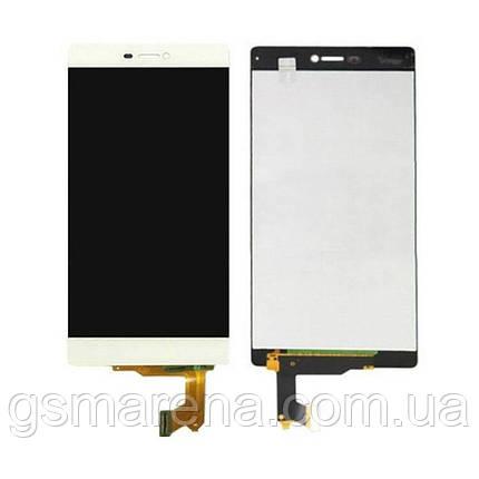 Дисплей модуль Huawei P8 (GRA-L09) Белый, фото 2
