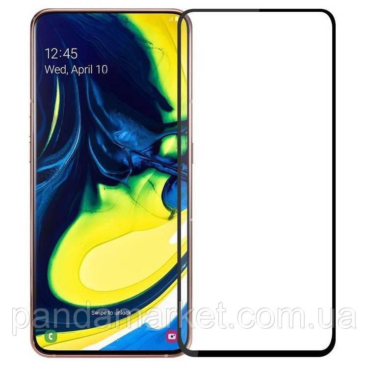 Защитное стекло 2.5D Samsung A805 (2019) A80 Full Glue (0.3mm, 2.5D, с олеофобным покрытием) Черный