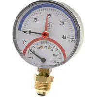 Термоманометр радиальный as 0-120c 6 бар