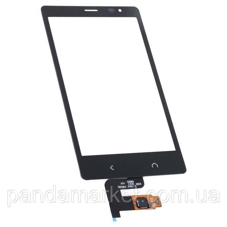 Тачскрин сенсор Nokia X2 Dual SIM Черный Оригинал