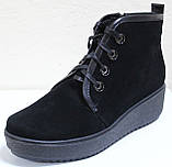 Ботинки замшевые женские зимние большого размера от производителя модель РМ316, фото 2