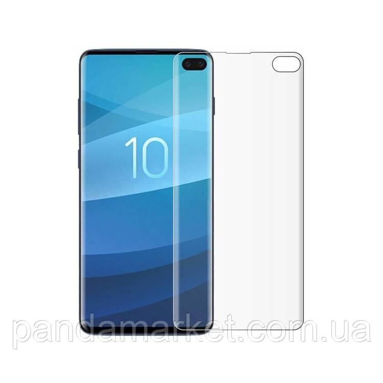 Защитное стекло 3D Samsung G975 S10 Plus (0.3mm, 3D, прозрачное) обеспечивает работу сканера отпечатков