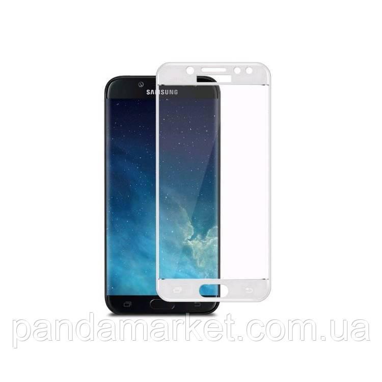 Защитное стекло 3D Samsung J400 J4 (2018) Full Glue (0.3mm, 3D, с олеофобным покрытием) Белый