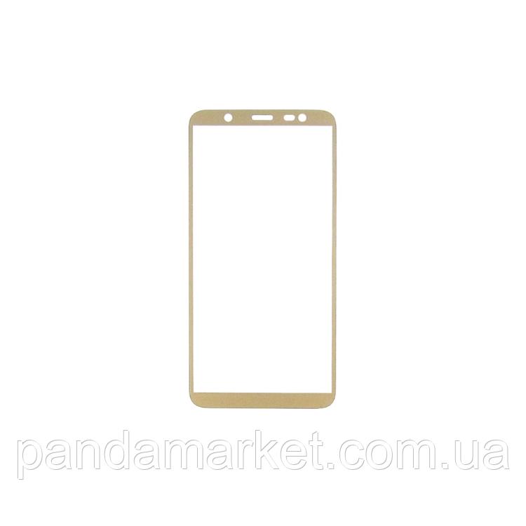 Защитное стекло 2.5D Samsung J810 J8 (2018) (0.3mm, 2.5D, с олеофобным покрытием) Золотой