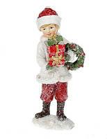 Декоративная фигурка Мальчик с венком. 12 см., фото 1