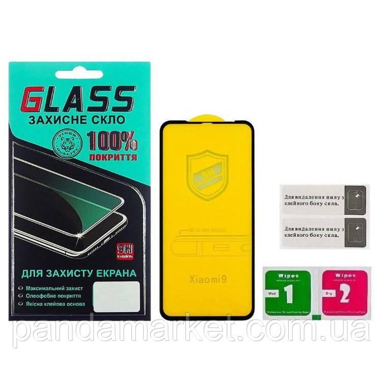 Защитное стекло 4D Xiaomi Redmi Mi9 (0.3mm, 4D ARC Люкс) Черный