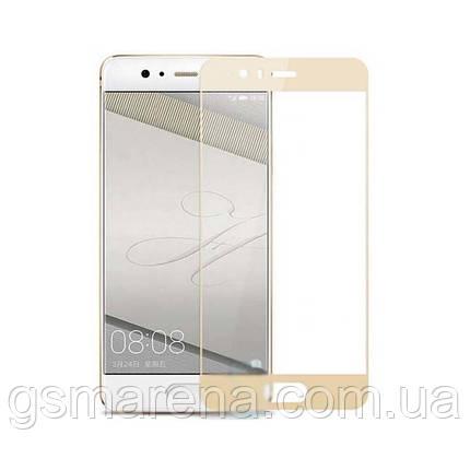 Защитное стекло 2.5D Huawei P10 Золотой, фото 2