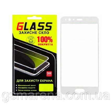 Защитное стекло 2.5D Huawei P10 Plus Белый Glass, фото 2