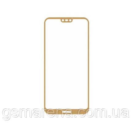 Защитное стекло 2.5D Huawei P20 Lite Золотой, фото 2
