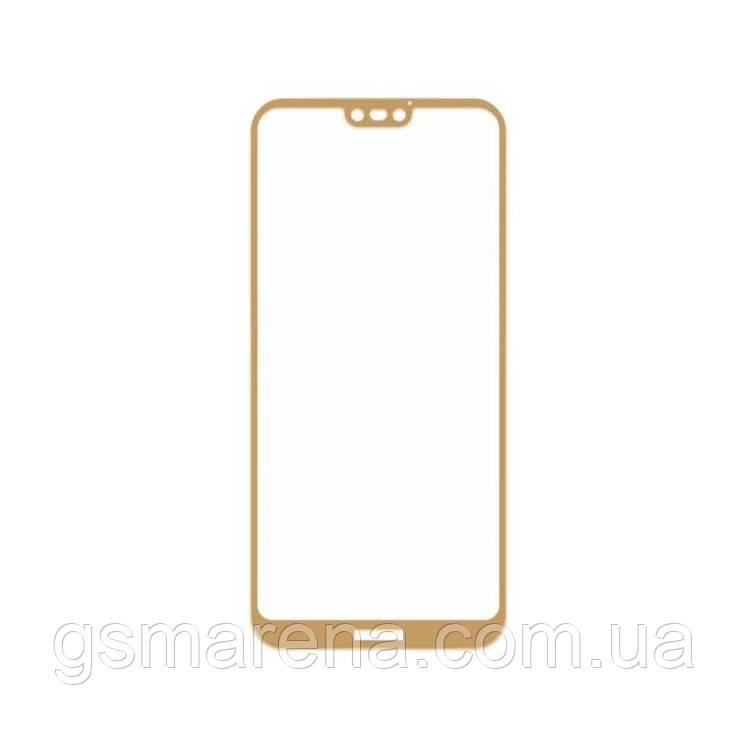 Защитное стекло 2.5D Huawei P20 Lite Золотой