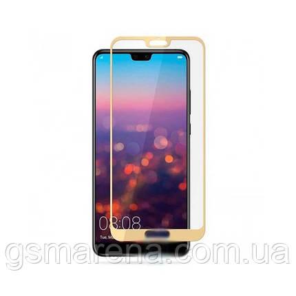 Защитное стекло 2.5D Huawei P20 Pro Золотой тех. пакет, фото 2