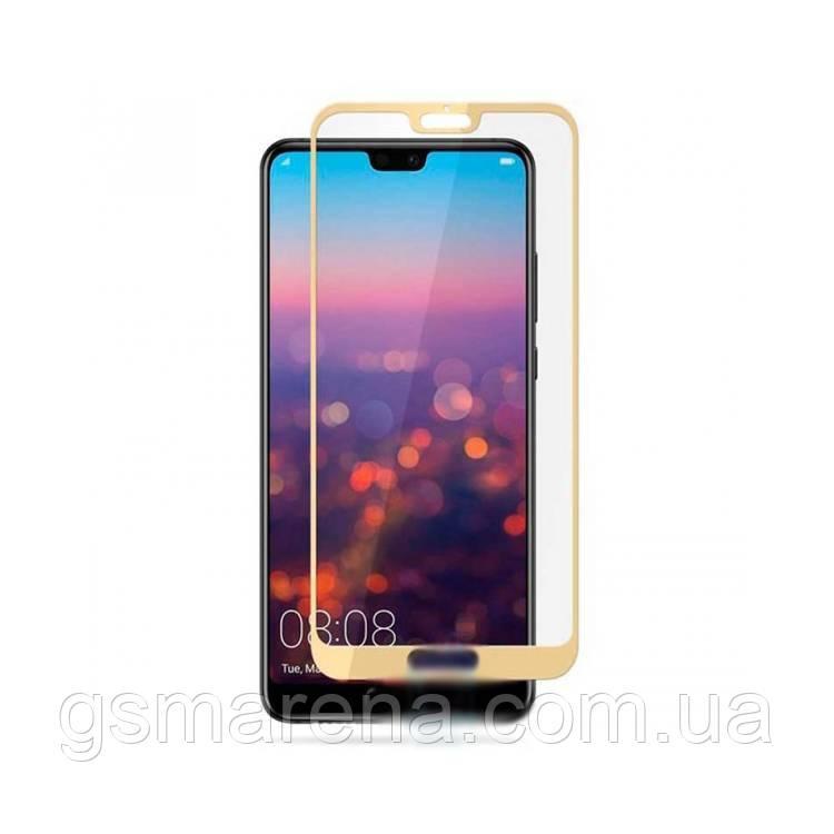 Защитное стекло 2.5D Huawei P20 Pro Золотой тех. пакет