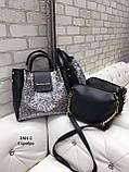 Комплект сумочка+ клатч/гліттер-екокожа/арт.2501-2, фото 2