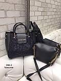 Комплект сумочка+ клатч/гліттер-екокожа/арт.2501-2, фото 5