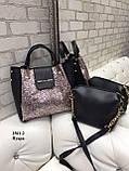 Комплект сумочка+ клатч/гліттер-екокожа/арт.2501-2, фото 6
