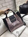 Комплект сумочка+ клатч/гліттер-екокожа/арт.2501-2, фото 7
