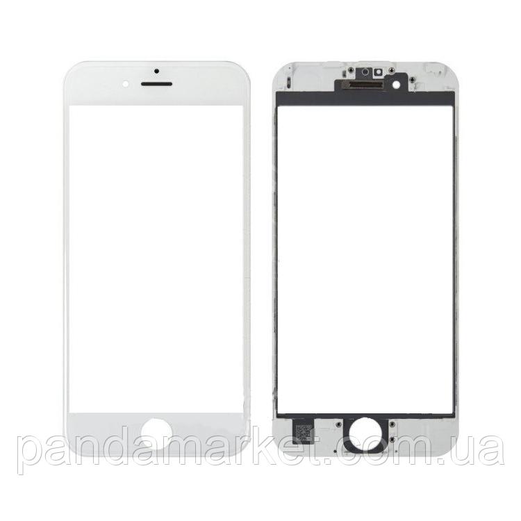 Стекло дисплея для переклейки Apple iPhone 6 Plus (5.5) Белый Complete + рамка