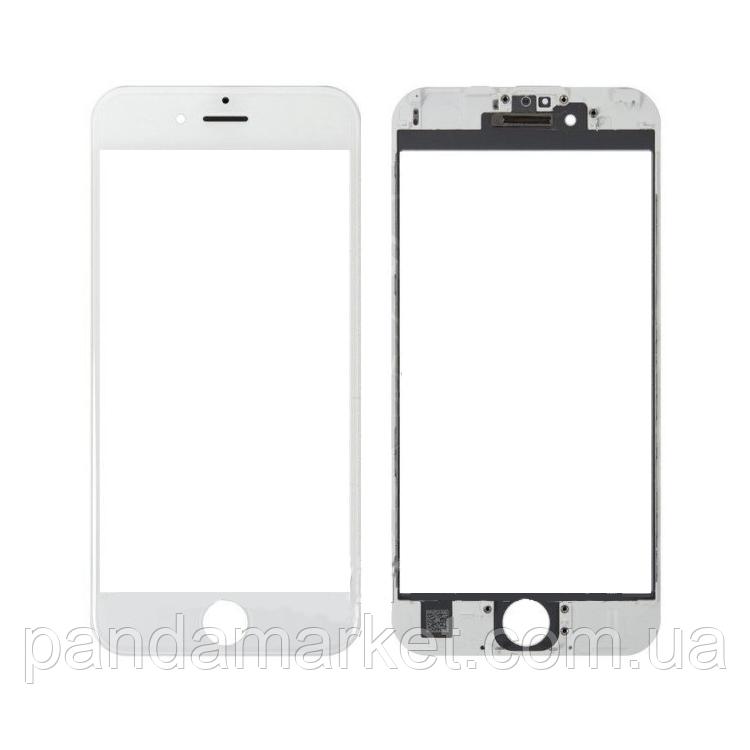 Стекло дисплея для переклейки Apple iPhone 6S Plus (5.5) Белый Complete + рамка