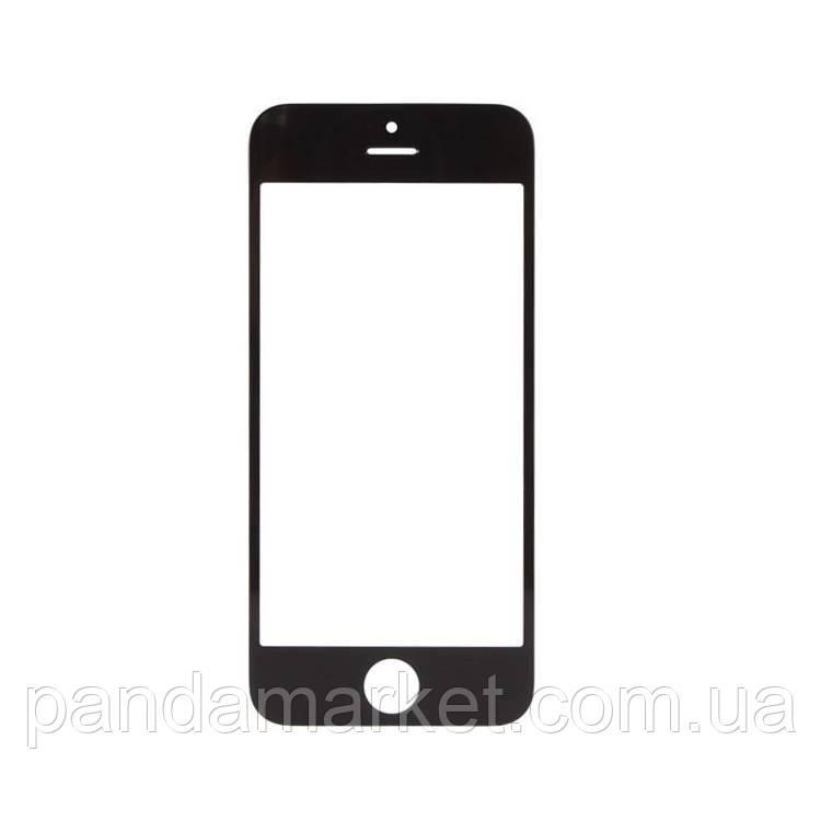 Стекло дисплея для переклейки Apple iPhone 5 (с рамкой) и OCA Черный