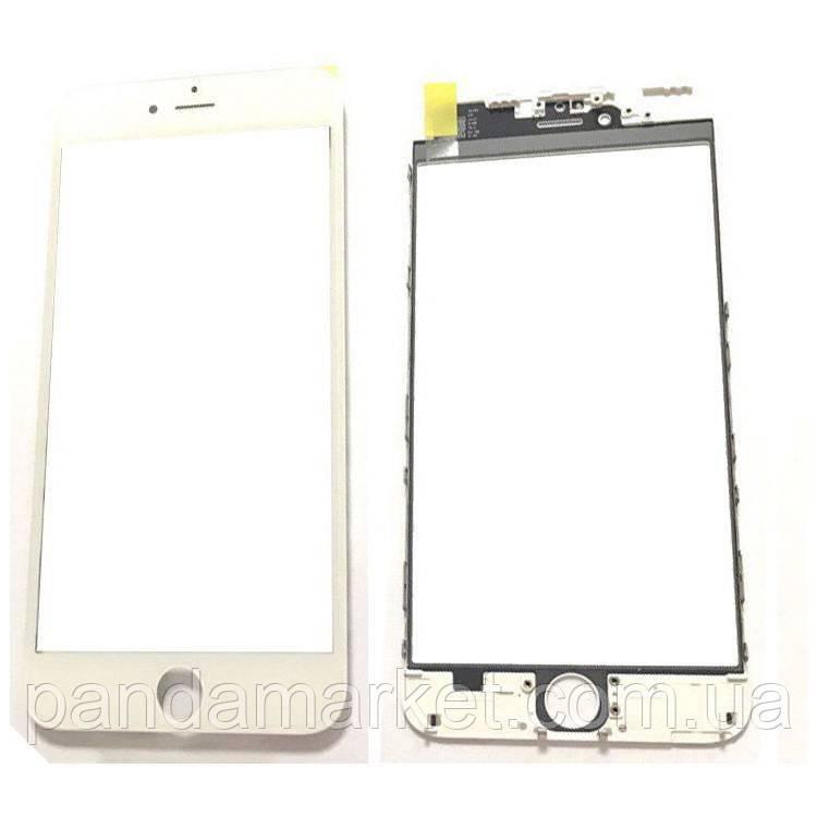 Стекло дисплея для переклейки Apple iPhone 6 Plus (5.5) (с рамкой) и OCA Белый