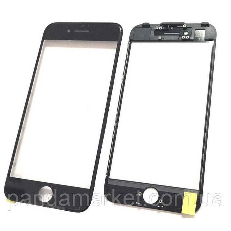 Стекло дисплея для переклейки Apple iPhone 7 (4.7) (с рамкой) и OCA Черный
