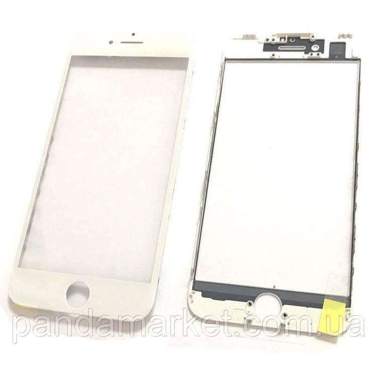 Стекло дисплея для переклейки Apple iPhone 7 (4.7) (с рамкой) и OCA Белый