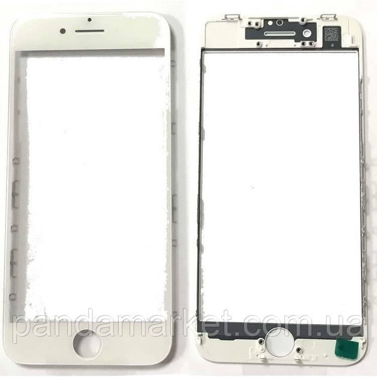 Стекло дисплея для переклейки Apple iPhone 8 (4.7) (с рамкой) и OCA Белый