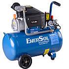 Компрессор электрический поршневой EnerSol ES-AC200-50-1, мощность 1,8 кВт, 200 л/мин, давление 8 бар, ресивер, фото 2
