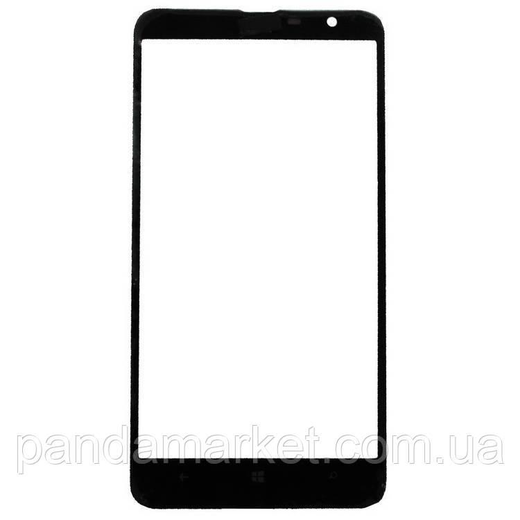 Стекло дисплея для переклейки Nokia Lumia 1320 Черный